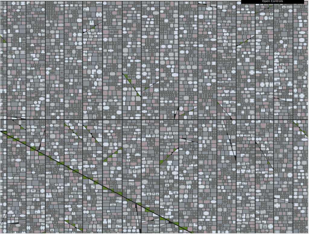 City Layout generated by the algorithm.